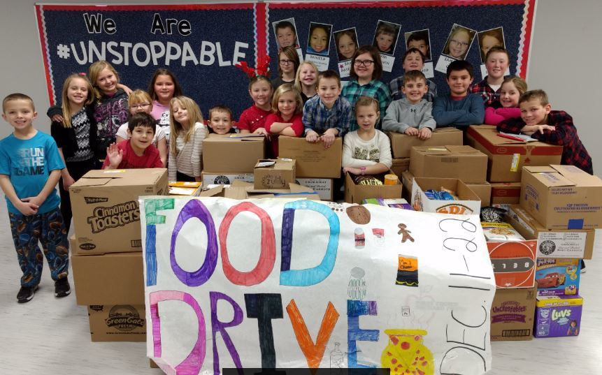 Unity Elementary Food Drive