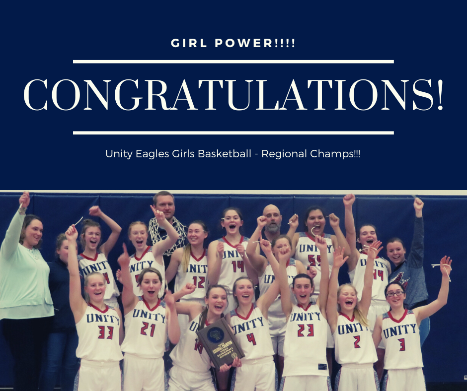 Girl Power!!!  Unity Girls are Regional Champs!