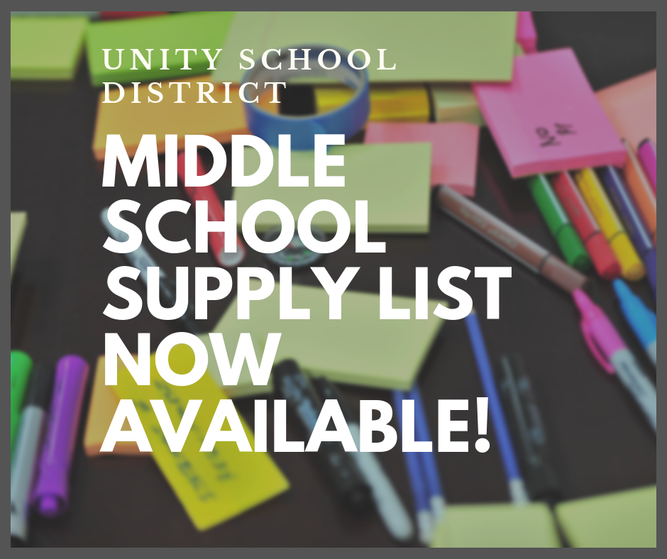 2019-20 MIDDLE SCHOOL SUPPLY LIST