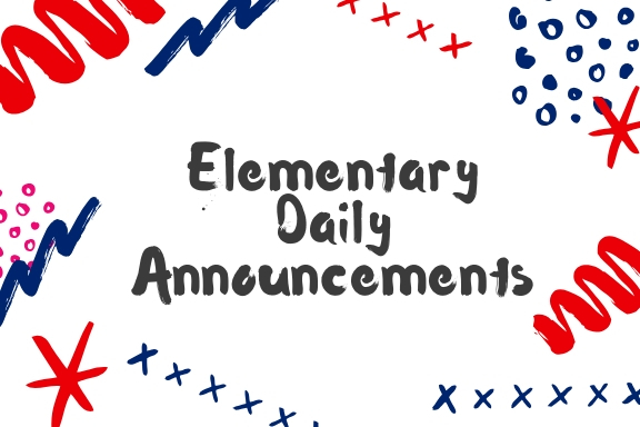 Elementary Announcements  3.11.2019