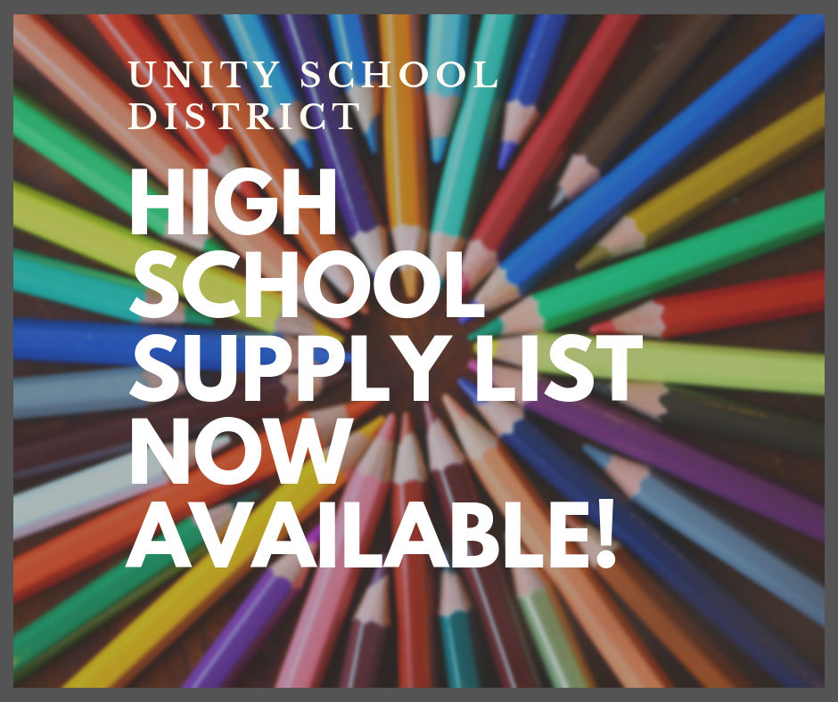2019-20 HIGH SCHOOL SUPPLY LIST NOW AVAILABLE!