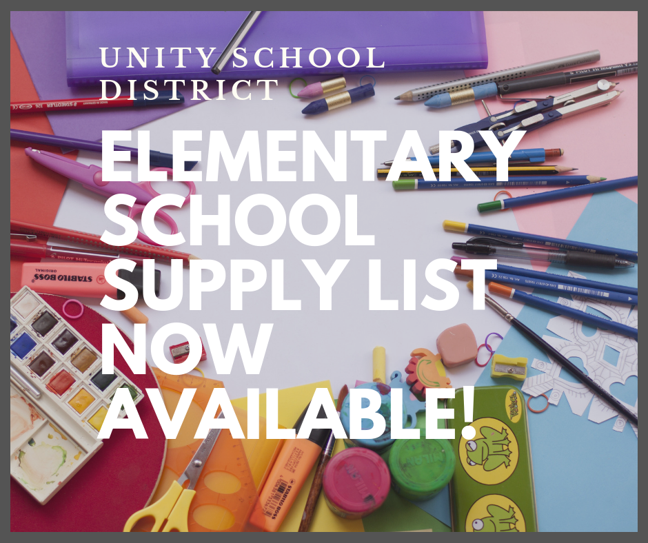 2019-20 ELEMENTARY SCHOOL SUPPLY LIST NOW AVAILABLE!