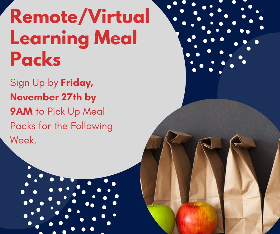 Remote/Virtual Learning Meal Packs