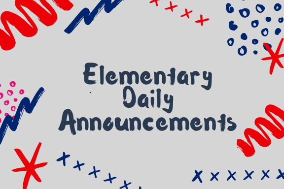 Elementary Announcements 12.5.2018