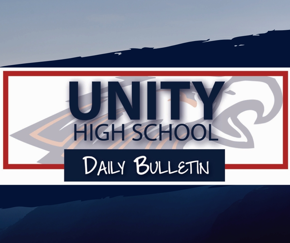 High School Announcements 4.9.2019